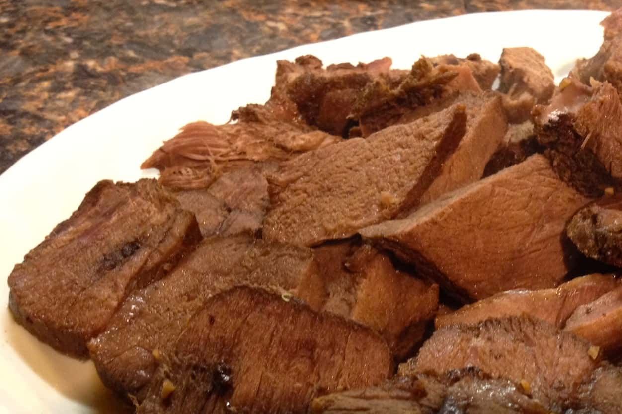My take on Ree's Braised Beef Brisket: Venison Roast | Rooted in Foods