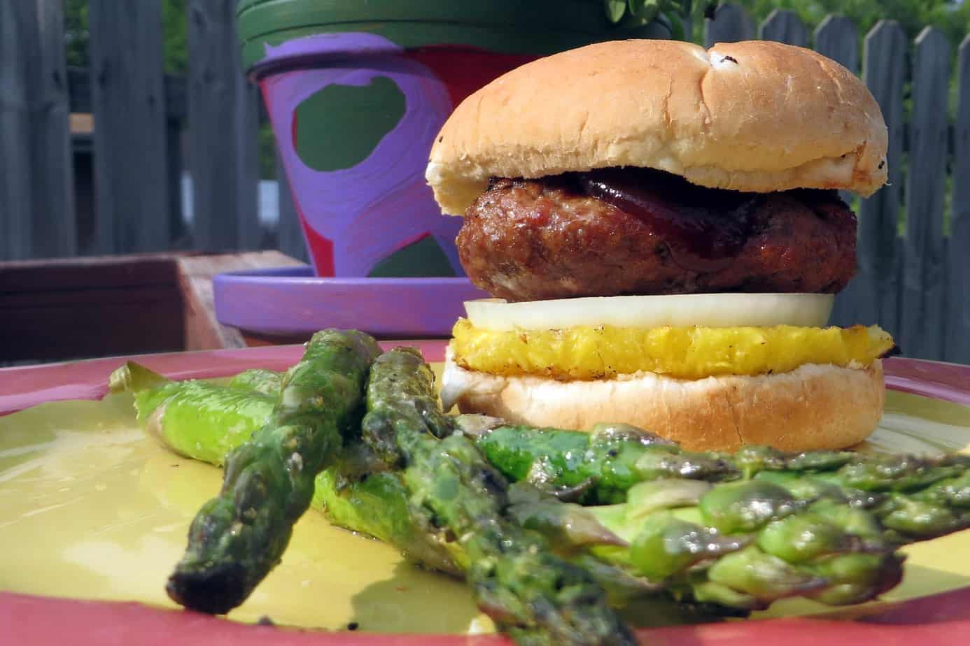 Pork Burgers with Grilled Pineapple | Rooted in Foods